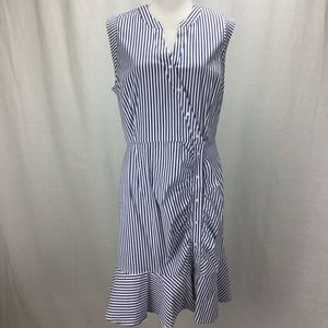 Bar III Asymmetrical Ruffled Shirtdress Stripe XL